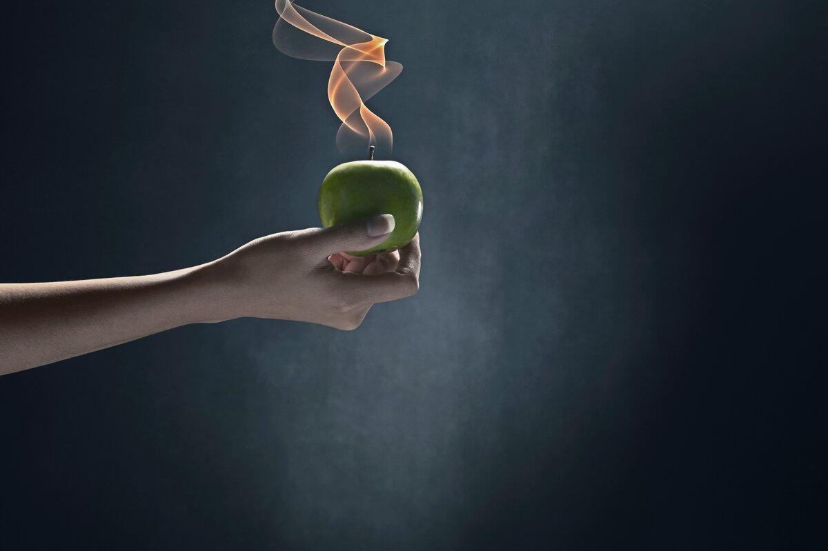 pommes-flambées